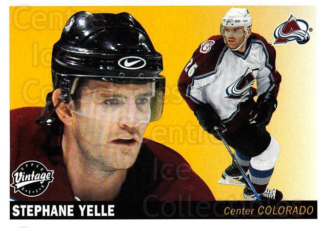 2002-03 UD Vintage #62 Stephane Yelle<br/>11 In Stock - $1.00 each - <a href=https://centericecollectibles.foxycart.com/cart?name=2002-03%20UD%20Vintage%20%2362%20Stephane%20Yelle...&quantity_max=11&price=$1.00&code=199993 class=foxycart> Buy it now! </a>