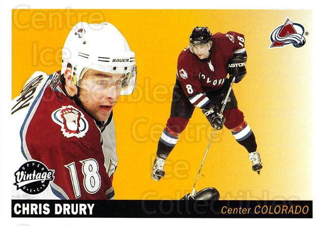 2002-03 UD Vintage #69 Chris Drury<br/>10 In Stock - $1.00 each - <a href=https://centericecollectibles.foxycart.com/cart?name=2002-03%20UD%20Vintage%20%2369%20Chris%20Drury...&quantity_max=10&price=$1.00&code=199998 class=foxycart> Buy it now! </a>