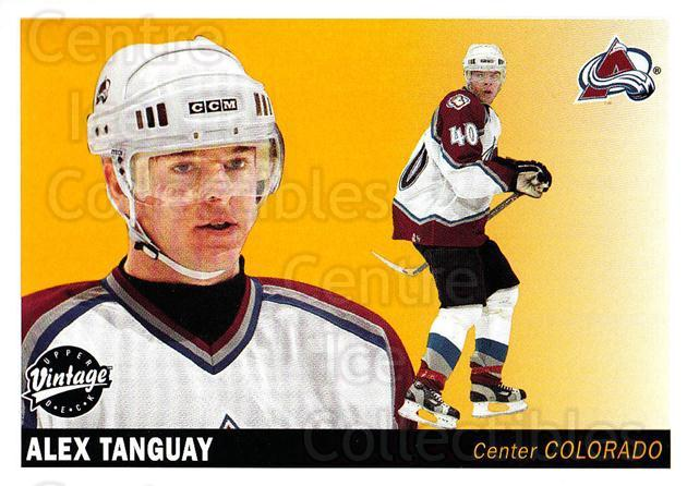 2002-03 UD Vintage #70 Alex Tanguay<br/>8 In Stock - $1.00 each - <a href=https://centericecollectibles.foxycart.com/cart?name=2002-03%20UD%20Vintage%20%2370%20Alex%20Tanguay...&quantity_max=8&price=$1.00&code=200000 class=foxycart> Buy it now! </a>