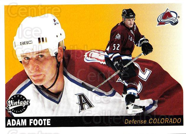 2002-03 UD Vintage #71 Adam Foote<br/>9 In Stock - $1.00 each - <a href=https://centericecollectibles.foxycart.com/cart?name=2002-03%20UD%20Vintage%20%2371%20Adam%20Foote...&quantity_max=9&price=$1.00&code=200001 class=foxycart> Buy it now! </a>