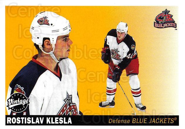 2002-03 UD Vintage #73 Rostislav Klesla<br/>8 In Stock - $1.00 each - <a href=https://centericecollectibles.foxycart.com/cart?name=2002-03%20UD%20Vintage%20%2373%20Rostislav%20Klesl...&quantity_max=8&price=$1.00&code=200003 class=foxycart> Buy it now! </a>