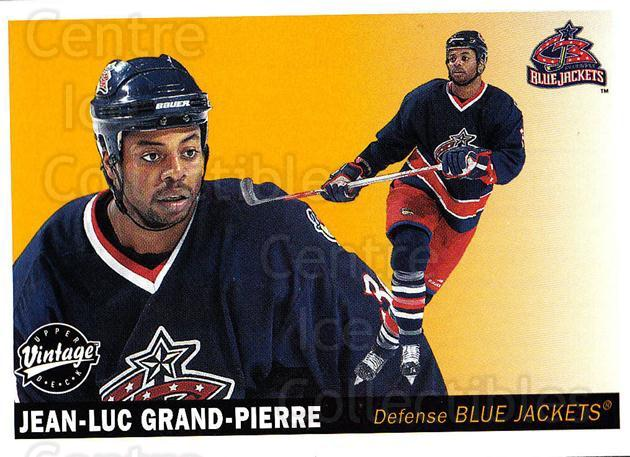 2002-03 UD Vintage #77 Jean-Luc Grand-Pierre<br/>1 In Stock - $1.00 each - <a href=https://centericecollectibles.foxycart.com/cart?name=2002-03%20UD%20Vintage%20%2377%20Jean-Luc%20Grand-...&quantity_max=1&price=$1.00&code=200007 class=foxycart> Buy it now! </a>