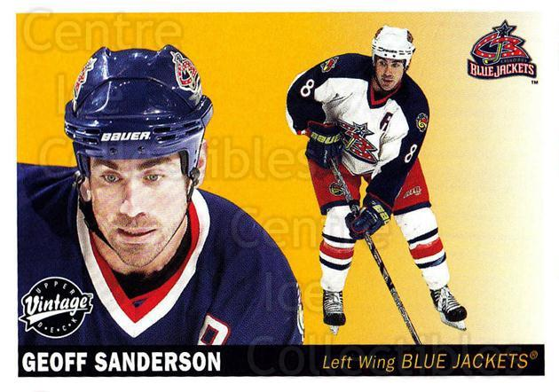 2002-03 UD Vintage #78 Geoff Sanderson<br/>9 In Stock - $1.00 each - <a href=https://centericecollectibles.foxycart.com/cart?name=2002-03%20UD%20Vintage%20%2378%20Geoff%20Sanderson...&quantity_max=9&price=$1.00&code=200008 class=foxycart> Buy it now! </a>