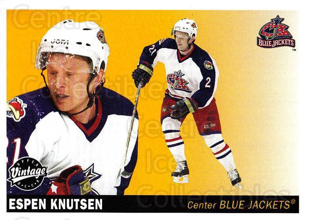 2002-03 UD Vintage #79 Espen Knutsen<br/>8 In Stock - $1.00 each - <a href=https://centericecollectibles.foxycart.com/cart?name=2002-03%20UD%20Vintage%20%2379%20Espen%20Knutsen...&quantity_max=8&price=$1.00&code=200009 class=foxycart> Buy it now! </a>