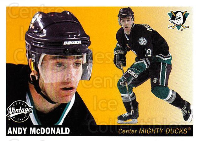 2002-03 UD Vintage #8 Andy McDonald<br/>6 In Stock - $1.00 each - <a href=https://centericecollectibles.foxycart.com/cart?name=2002-03%20UD%20Vintage%20%238%20Andy%20McDonald...&quantity_max=6&price=$1.00&code=200010 class=foxycart> Buy it now! </a>
