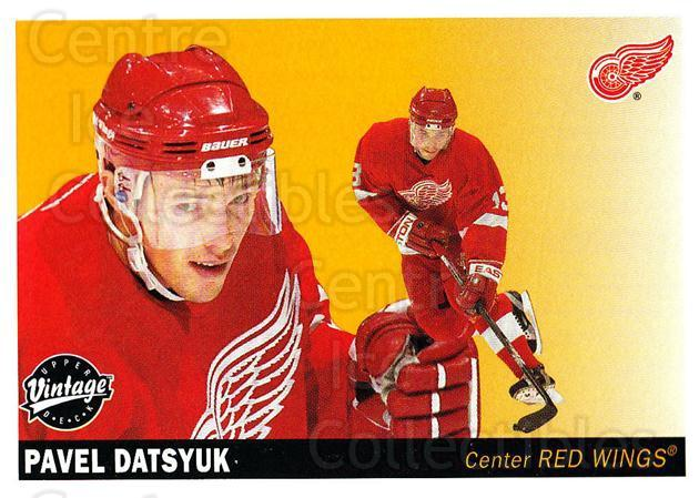 2002-03 UD Vintage #90 Pavel Datsyuk<br/>5 In Stock - $2.00 each - <a href=https://centericecollectibles.foxycart.com/cart?name=2002-03%20UD%20Vintage%20%2390%20Pavel%20Datsyuk...&quantity_max=5&price=$2.00&code=200020 class=foxycart> Buy it now! </a>