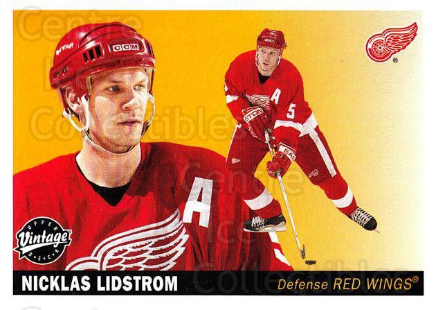 2002-03 UD Vintage #91 Nicklas Lidstrom<br/>6 In Stock - $2.00 each - <a href=https://centericecollectibles.foxycart.com/cart?name=2002-03%20UD%20Vintage%20%2391%20Nicklas%20Lidstro...&quantity_max=6&price=$2.00&code=200021 class=foxycart> Buy it now! </a>