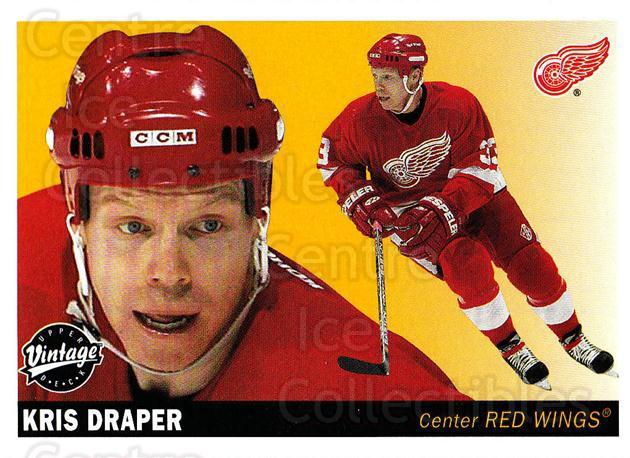 2002-03 UD Vintage #93 Kris Draper<br/>7 In Stock - $1.00 each - <a href=https://centericecollectibles.foxycart.com/cart?name=2002-03%20UD%20Vintage%20%2393%20Kris%20Draper...&quantity_max=7&price=$1.00&code=200023 class=foxycart> Buy it now! </a>