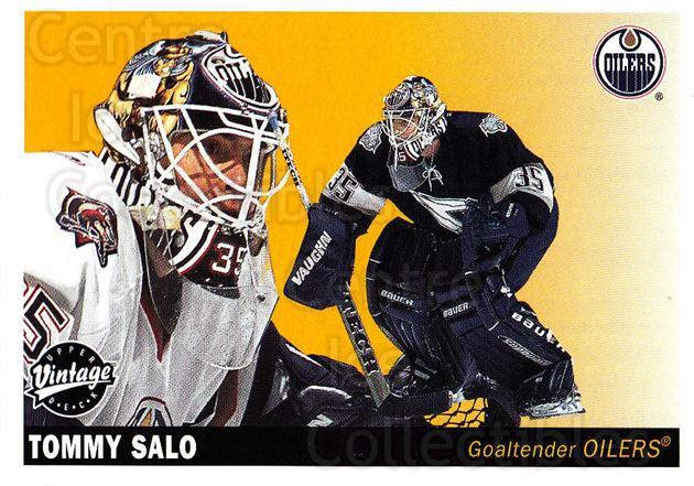2002-03 UD Vintage #99 Tommy Salo<br/>6 In Stock - $1.00 each - <a href=https://centericecollectibles.foxycart.com/cart?name=2002-03%20UD%20Vintage%20%2399%20Tommy%20Salo...&quantity_max=6&price=$1.00&code=200028 class=foxycart> Buy it now! </a>