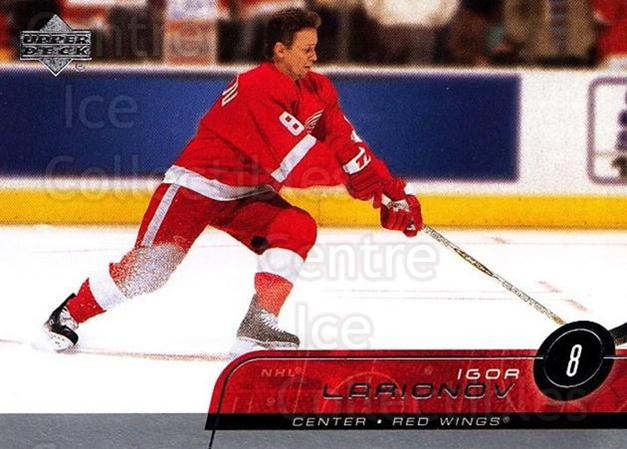 2002-03 Upper Deck #65 Igor Larionov<br/>3 In Stock - $1.00 each - <a href=https://centericecollectibles.foxycart.com/cart?name=2002-03%20Upper%20Deck%20%2365%20Igor%20Larionov...&quantity_max=3&price=$1.00&code=200370 class=foxycart> Buy it now! </a>