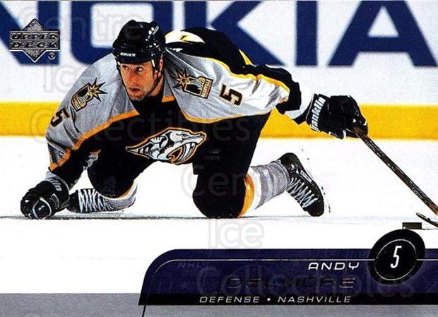 2002-03 Upper Deck #97 Andy Delmore<br/>4 In Stock - $1.00 each - <a href=https://centericecollectibles.foxycart.com/cart?name=2002-03%20Upper%20Deck%20%2397%20Andy%20Delmore...&quantity_max=4&price=$1.00&code=200403 class=foxycart> Buy it now! </a>