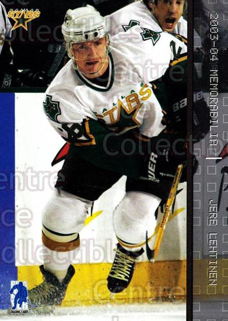 2003-04 BAP Memorabilia #39 Jere Lehtinen<br/>7 In Stock - $1.00 each - <a href=https://centericecollectibles.foxycart.com/cart?name=2003-04%20BAP%20Memorabilia%20%2339%20Jere%20Lehtinen...&quantity_max=7&price=$1.00&code=200414 class=foxycart> Buy it now! </a>