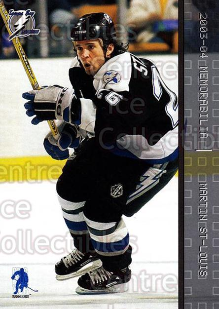 2003-04 BAP Memorabilia #52 Martin St. Louis<br/>8 In Stock - $1.00 each - <a href=https://centericecollectibles.foxycart.com/cart?name=2003-04%20BAP%20Memorabilia%20%2352%20Martin%20St.%20Loui...&quantity_max=8&price=$1.00&code=200428 class=foxycart> Buy it now! </a>