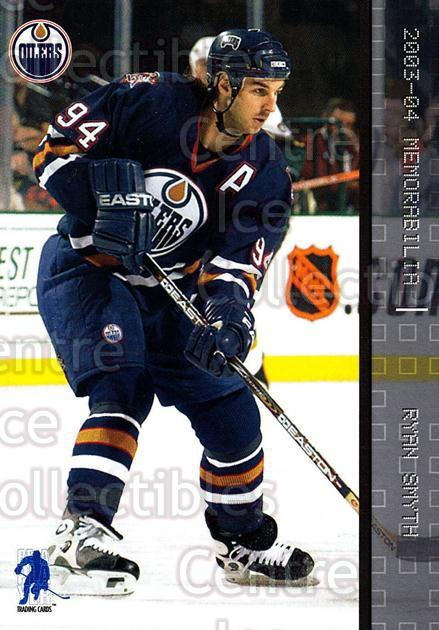 2003-04 BAP Memorabilia #79 Ryan Smyth<br/>8 In Stock - $1.00 each - <a href=https://centericecollectibles.foxycart.com/cart?name=2003-04%20BAP%20Memorabilia%20%2379%20Ryan%20Smyth...&quantity_max=8&price=$1.00&code=200456 class=foxycart> Buy it now! </a>