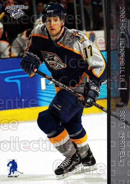 2003-04 BAP Memorabilia #82 Scott Hartnell<br/>7 In Stock - $1.00 each - <a href=https://centericecollectibles.foxycart.com/cart?name=2003-04%20BAP%20Memorabilia%20%2382%20Scott%20Hartnell...&quantity_max=7&price=$1.00&code=200460 class=foxycart> Buy it now! </a>