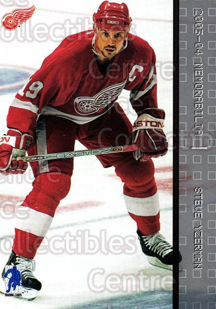 2003-04 BAP Memorabilia #92 Steve Yzerman<br/>3 In Stock - $2.00 each - <a href=https://centericecollectibles.foxycart.com/cart?name=2003-04%20BAP%20Memorabilia%20%2392%20Steve%20Yzerman...&quantity_max=3&price=$2.00&code=200470 class=foxycart> Buy it now! </a>