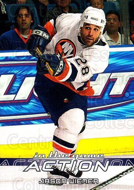 2003-04 ITG Action #309 Jason Wiemer<br/>4 In Stock - $1.00 each - <a href=https://centericecollectibles.foxycart.com/cart?name=2003-04%20ITG%20Action%20%23309%20Jason%20Wiemer...&quantity_max=4&price=$1.00&code=200601 class=foxycart> Buy it now! </a>