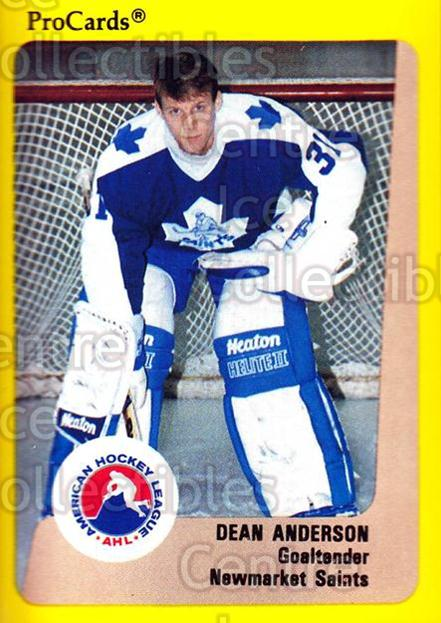 1989-90 ProCards AHL #105 Dean Anderson<br/>2 In Stock - $2.00 each - <a href=https://centericecollectibles.foxycart.com/cart?name=1989-90%20ProCards%20AHL%20%23105%20Dean%20Anderson...&quantity_max=2&price=$2.00&code=20065 class=foxycart> Buy it now! </a>