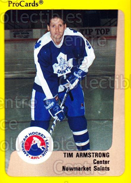 1989-90 ProCards AHL #114 Tim Armstrong<br/>2 In Stock - $2.00 each - <a href=https://centericecollectibles.foxycart.com/cart?name=1989-90%20ProCards%20AHL%20%23114%20Tim%20Armstrong...&quantity_max=2&price=$2.00&code=20075 class=foxycart> Buy it now! </a>