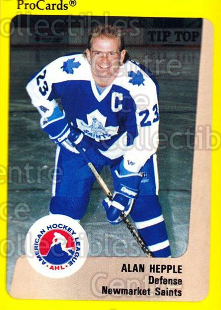 1989-90 ProCards AHL #117 Alan Hepple<br/>6 In Stock - $2.00 each - <a href=https://centericecollectibles.foxycart.com/cart?name=1989-90%20ProCards%20AHL%20%23117%20Alan%20Hepple...&quantity_max=6&price=$2.00&code=20078 class=foxycart> Buy it now! </a>