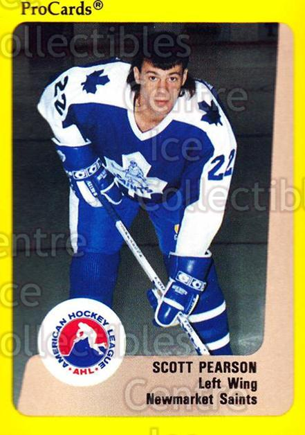 1989-90 ProCards AHL #119 Scott Pearson<br/>7 In Stock - $2.00 each - <a href=https://centericecollectibles.foxycart.com/cart?name=1989-90%20ProCards%20AHL%20%23119%20Scott%20Pearson...&quantity_max=7&price=$2.00&code=20080 class=foxycart> Buy it now! </a>