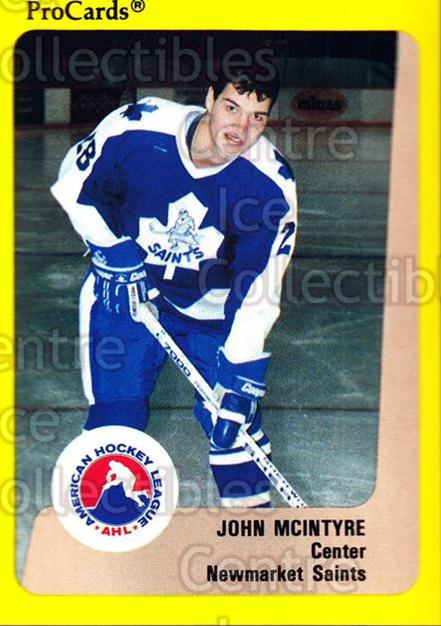 1989-90 ProCards AHL #121 John McIntyre<br/>5 In Stock - $2.00 each - <a href=https://centericecollectibles.foxycart.com/cart?name=1989-90%20ProCards%20AHL%20%23121%20John%20McIntyre...&quantity_max=5&price=$2.00&code=20082 class=foxycart> Buy it now! </a>