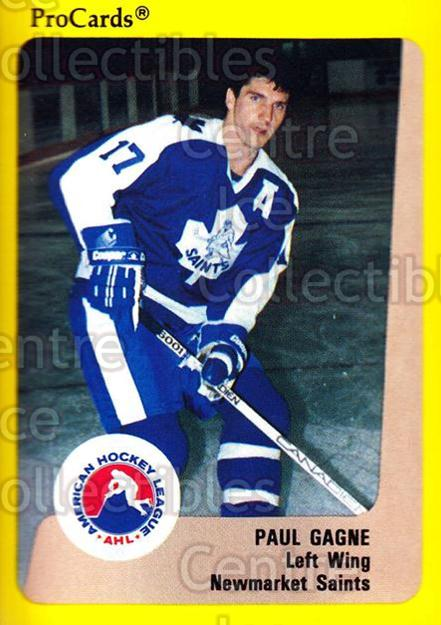 1989-90 ProCards AHL #122 Paul Gagne<br/>4 In Stock - $2.00 each - <a href=https://centericecollectibles.foxycart.com/cart?name=1989-90%20ProCards%20AHL%20%23122%20Paul%20Gagne...&quantity_max=4&price=$2.00&code=20083 class=foxycart> Buy it now! </a>