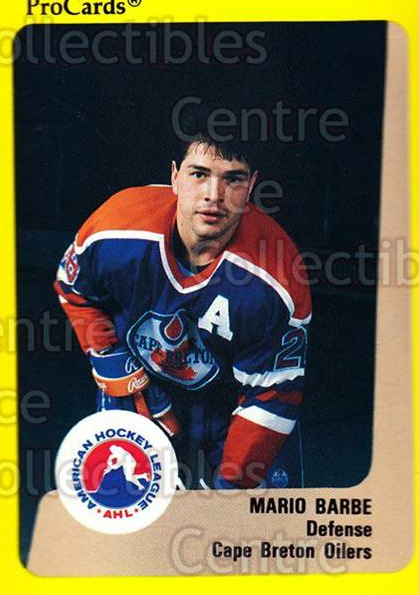 1989-90 ProCards AHL #132 Mario Barbe<br/>9 In Stock - $2.00 each - <a href=https://centericecollectibles.foxycart.com/cart?name=1989-90%20ProCards%20AHL%20%23132%20Mario%20Barbe...&price=$2.00&code=20093 class=foxycart> Buy it now! </a>