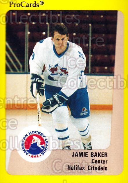 1989-90 ProCards AHL #156 Jamie Baker<br/>8 In Stock - $2.00 each - <a href=https://centericecollectibles.foxycart.com/cart?name=1989-90%20ProCards%20AHL%20%23156%20Jamie%20Baker...&quantity_max=8&price=$2.00&code=20117 class=foxycart> Buy it now! </a>