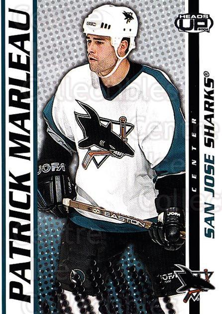 2003-04 Heads-Up #83 Patrick Marleau<br/>5 In Stock - $1.00 each - <a href=https://centericecollectibles.foxycart.com/cart?name=2003-04%20Heads-Up%20%2383%20Patrick%20Marleau...&quantity_max=5&price=$1.00&code=201298 class=foxycart> Buy it now! </a>