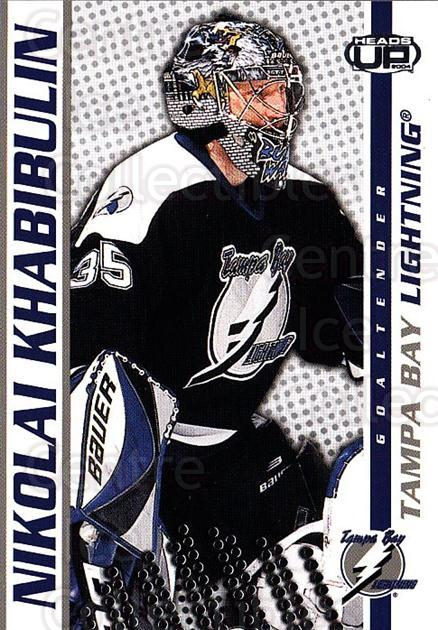 2003-04 Heads-Up #86 Nikolai Khabibulin<br/>4 In Stock - $1.00 each - <a href=https://centericecollectibles.foxycart.com/cart?name=2003-04%20Heads-Up%20%2386%20Nikolai%20Khabibu...&quantity_max=4&price=$1.00&code=201301 class=foxycart> Buy it now! </a>