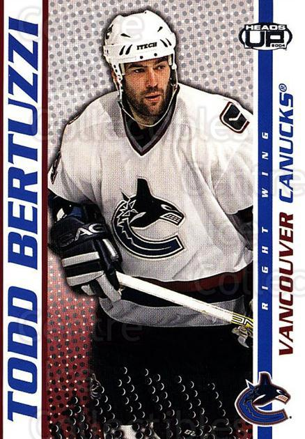 2003-04 Heads-Up #94 Todd Bertuzzi<br/>6 In Stock - $1.00 each - <a href=https://centericecollectibles.foxycart.com/cart?name=2003-04%20Heads-Up%20%2394%20Todd%20Bertuzzi...&quantity_max=6&price=$1.00&code=201307 class=foxycart> Buy it now! </a>