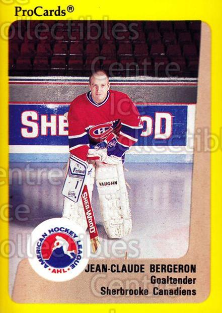 1989-90 ProCards AHL #181 Jean-Claude Bergeron<br/>2 In Stock - $2.00 each - <a href=https://centericecollectibles.foxycart.com/cart?name=1989-90%20ProCards%20AHL%20%23181%20Jean-Claude%20Ber...&price=$2.00&code=20144 class=foxycart> Buy it now! </a>