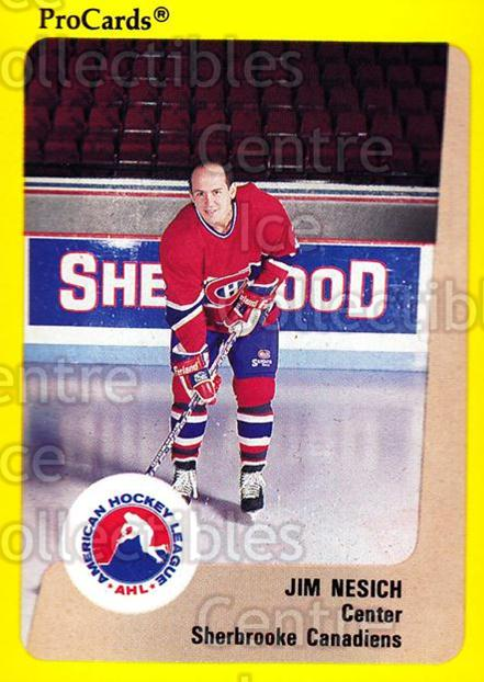 1989-90 ProCards AHL #182 Jim Nesich<br/>7 In Stock - $2.00 each - <a href=https://centericecollectibles.foxycart.com/cart?name=1989-90%20ProCards%20AHL%20%23182%20Jim%20Nesich...&price=$2.00&code=20145 class=foxycart> Buy it now! </a>