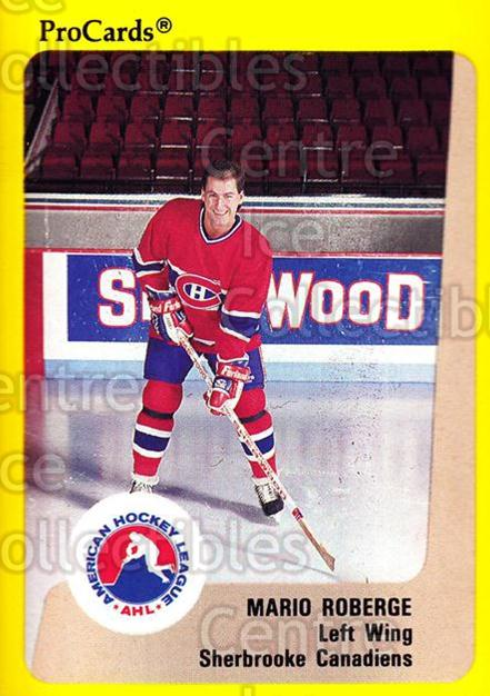 1989-90 ProCards AHL #187 Mario Roberge<br/>7 In Stock - $2.00 each - <a href=https://centericecollectibles.foxycart.com/cart?name=1989-90%20ProCards%20AHL%20%23187%20Mario%20Roberge...&price=$2.00&code=20150 class=foxycart> Buy it now! </a>