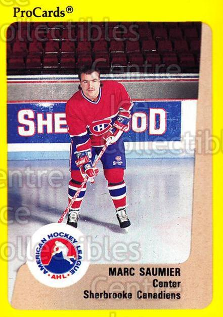 1989-90 ProCards AHL #188 Marc Saumier<br/>7 In Stock - $2.00 each - <a href=https://centericecollectibles.foxycart.com/cart?name=1989-90%20ProCards%20AHL%20%23188%20Marc%20Saumier...&price=$2.00&code=20151 class=foxycart> Buy it now! </a>