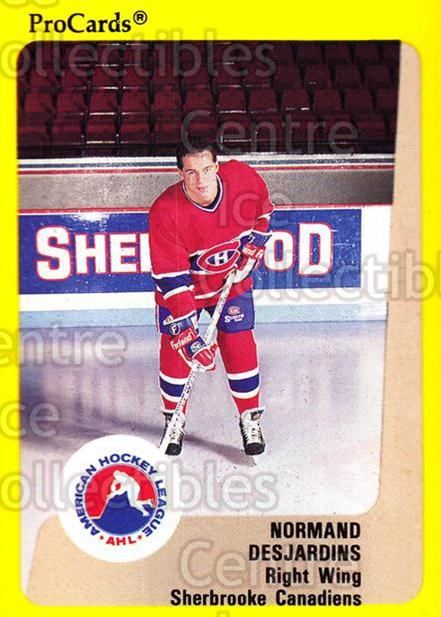 1989-90 ProCards AHL #189 Norman Desjardins<br/>7 In Stock - $2.00 each - <a href=https://centericecollectibles.foxycart.com/cart?name=1989-90%20ProCards%20AHL%20%23189%20Norman%20Desjardi...&price=$2.00&code=20152 class=foxycart> Buy it now! </a>