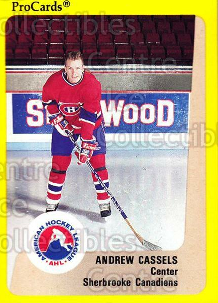 1989-90 ProCards AHL #191 Andrew Cassels<br/>5 In Stock - $2.00 each - <a href=https://centericecollectibles.foxycart.com/cart?name=1989-90%20ProCards%20AHL%20%23191%20Andrew%20Cassels...&price=$2.00&code=20155 class=foxycart> Buy it now! </a>