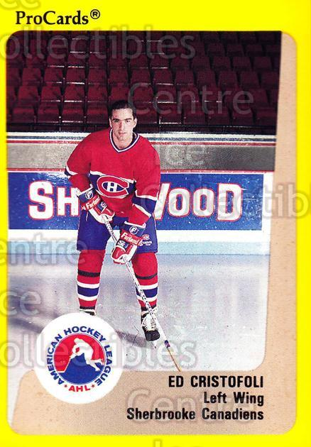 1989-90 ProCards AHL #194 Ed Cristofoli<br/>4 In Stock - $2.00 each - <a href=https://centericecollectibles.foxycart.com/cart?name=1989-90%20ProCards%20AHL%20%23194%20Ed%20Cristofoli...&price=$2.00&code=20158 class=foxycart> Buy it now! </a>