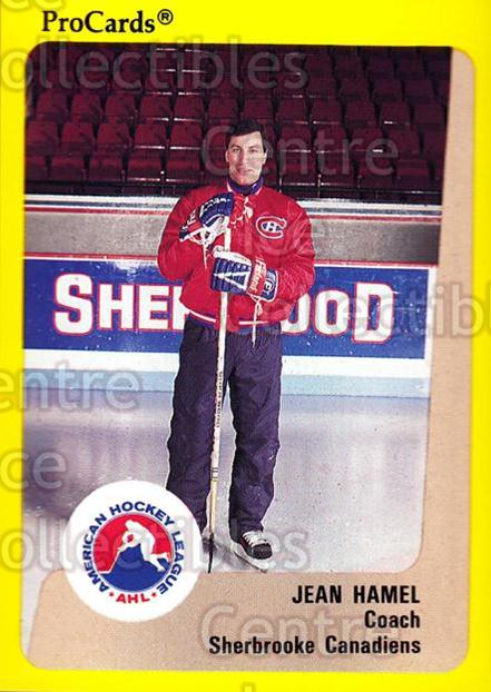1989-90 ProCards AHL #201 Jean Hamel<br/>7 In Stock - $2.00 each - <a href=https://centericecollectibles.foxycart.com/cart?name=1989-90%20ProCards%20AHL%20%23201%20Jean%20Hamel...&price=$2.00&code=20167 class=foxycart> Buy it now! </a>