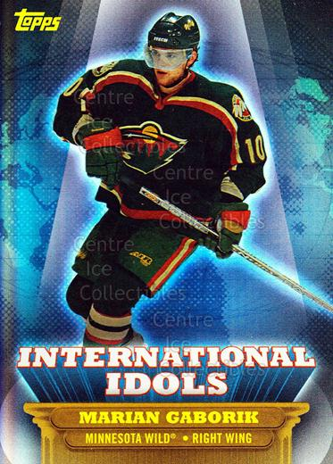 2003-04 Topps / O-pee-chee International Idols #1 Marian Gaborik<br/>1 In Stock - $2.00 each - <a href=https://centericecollectibles.foxycart.com/cart?name=2003-04%20Topps%20/%20O-pee-chee%20International%20Idols%20%231%20Marian%20Gaborik...&quantity_max=1&price=$2.00&code=201743 class=foxycart> Buy it now! </a>