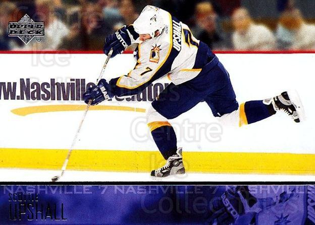 2003-04 Upper Deck #109 Scottie Upshall<br/>6 In Stock - $1.00 each - <a href=https://centericecollectibles.foxycart.com/cart?name=2003-04%20Upper%20Deck%20%23109%20Scottie%20Upshall...&quantity_max=6&price=$1.00&code=201769 class=foxycart> Buy it now! </a>