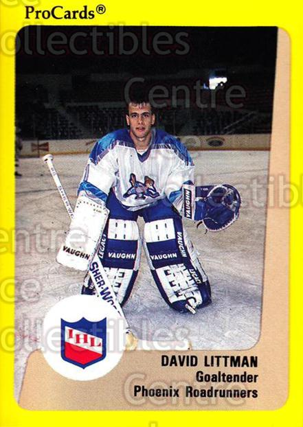 1989-90 ProCards IHL #103 David Littman<br/>5 In Stock - $2.00 each - <a href=https://centericecollectibles.foxycart.com/cart?name=1989-90%20ProCards%20IHL%20%23103%20David%20Littman...&quantity_max=5&price=$2.00&code=20210 class=foxycart> Buy it now! </a>