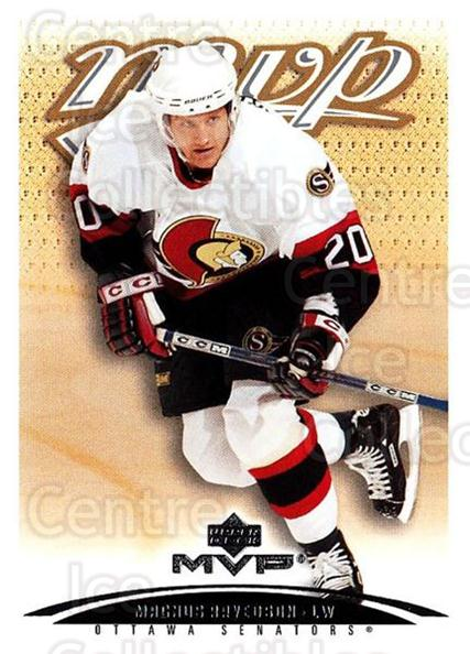 2003-04 Upper Deck MVP #295 Magnus Arvedson<br/>4 In Stock - $1.00 each - <a href=https://centericecollectibles.foxycart.com/cart?name=2003-04%20Upper%20Deck%20MVP%20%23295%20Magnus%20Arvedson...&quantity_max=4&price=$1.00&code=202198 class=foxycart> Buy it now! </a>