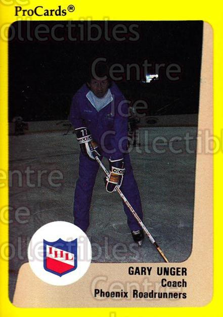 1989-90 ProCards IHL #112 Garry Unger<br/>7 In Stock - $2.00 each - <a href=https://centericecollectibles.foxycart.com/cart?name=1989-90%20ProCards%20IHL%20%23112%20Garry%20Unger...&quantity_max=7&price=$2.00&code=20219 class=foxycart> Buy it now! </a>