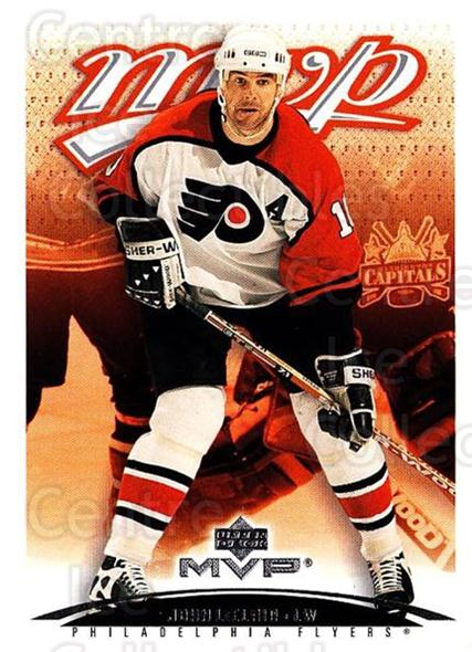 2003-04 Upper Deck MVP #313 John LeClair<br/>3 In Stock - $1.00 each - <a href=https://centericecollectibles.foxycart.com/cart?name=2003-04%20Upper%20Deck%20MVP%20%23313%20John%20LeClair...&quantity_max=3&price=$1.00&code=202219 class=foxycart> Buy it now! </a>