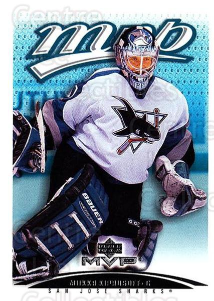 2003-04 Upper Deck MVP #356 Miikka Kiprusoff<br/>2 In Stock - $1.00 each - <a href=https://centericecollectibles.foxycart.com/cart?name=2003-04%20Upper%20Deck%20MVP%20%23356%20Miikka%20Kiprusof...&quantity_max=2&price=$1.00&code=202263 class=foxycart> Buy it now! </a>