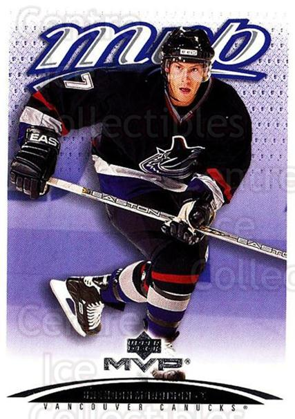 2003-04 Upper Deck MVP #410 Brendan Morrison<br/>4 In Stock - $1.00 each - <a href=https://centericecollectibles.foxycart.com/cart?name=2003-04%20Upper%20Deck%20MVP%20%23410%20Brendan%20Morriso...&quantity_max=4&price=$1.00&code=202321 class=foxycart> Buy it now! </a>