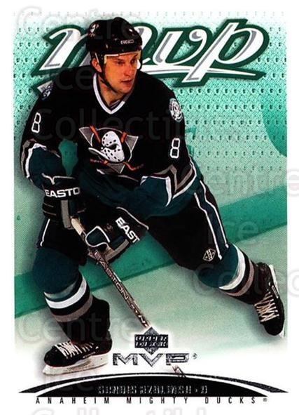 2003-04 Upper Deck MVP #5 Sandis Ozolinsh<br/>4 In Stock - $1.00 each - <a href=https://centericecollectibles.foxycart.com/cart?name=2003-04%20Upper%20Deck%20MVP%20%235%20Sandis%20Ozolinsh...&quantity_max=4&price=$1.00&code=202378 class=foxycart> Buy it now! </a>