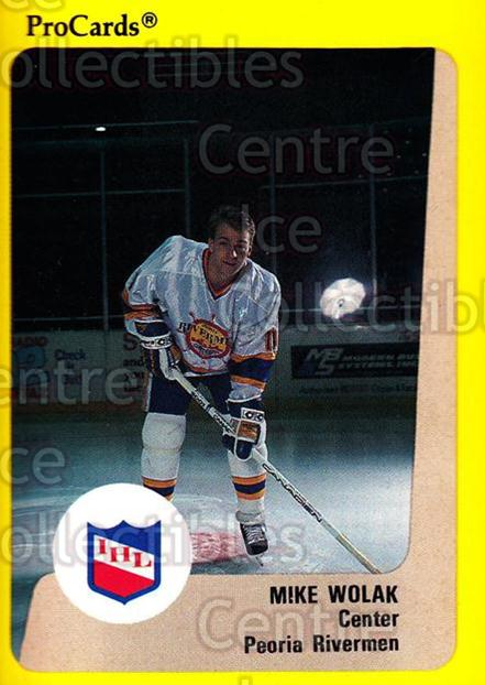 1989-90 ProCards IHL #13 Mike Wolak<br/>4 In Stock - $2.00 each - <a href=https://centericecollectibles.foxycart.com/cart?name=1989-90%20ProCards%20IHL%20%2313%20Mike%20Wolak...&quantity_max=4&price=$2.00&code=20238 class=foxycart> Buy it now! </a>